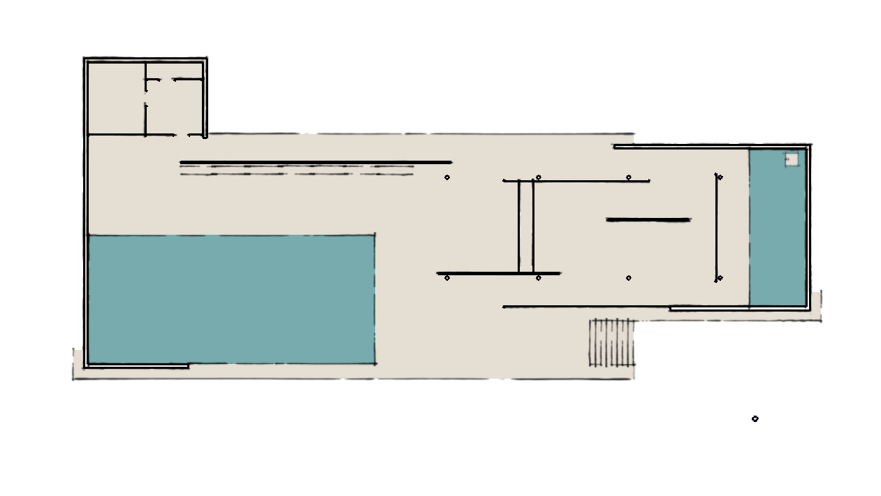 Offener und freier Grundriss, Pavillon Barcelona. Grundriss selbst erstellen